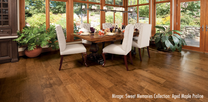 Hardwood Flooring: Aged Maple Praline Hardwood by Mirage