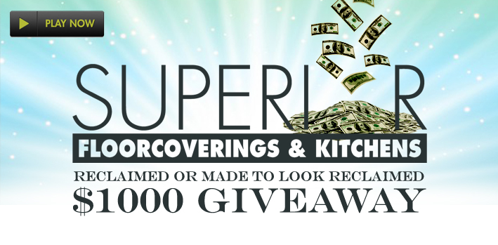 Superior's Reclaimed or Made To Look Reclaimed $1,000 Cash GiveAway