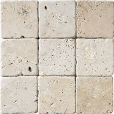 4×4 Travertine Light Tile