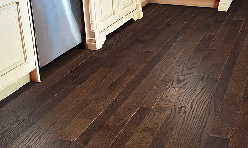 Solid Hardwood Wire Brushed Oak 2.25 inch and 3 inch Mixed