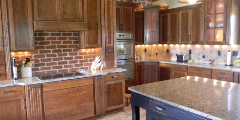 rustic custom kitchen – 06