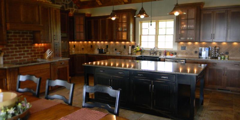 rustic custom kitchen – 11