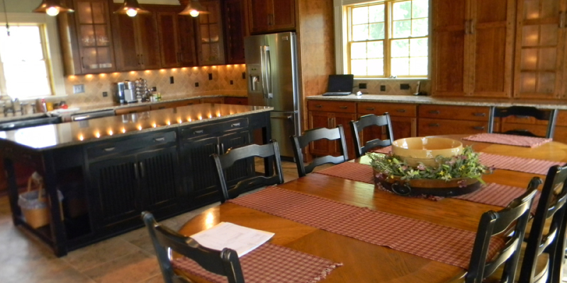 rustic custom kitchen – 12