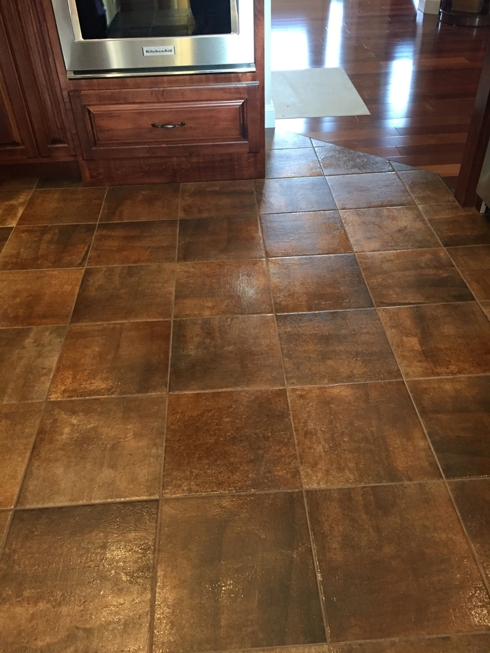 kitchen floor: 13×13 villa medica porcelain tile