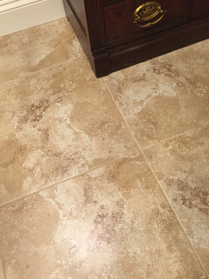 Laundry Room Floor: 18×18 tile