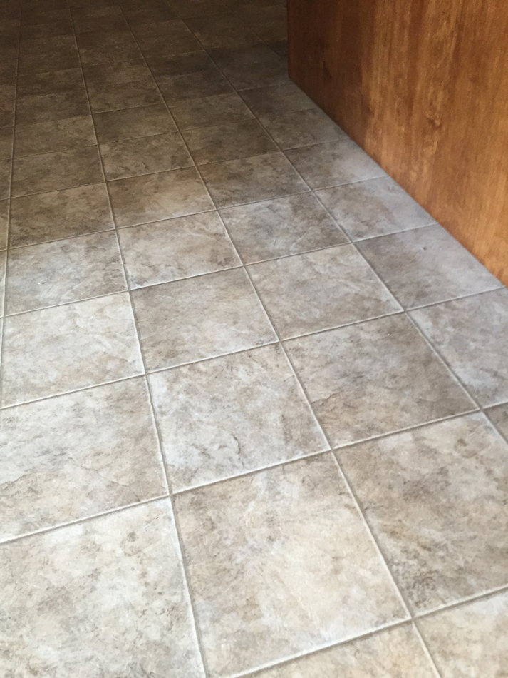 Kitchen Floor: Congoleum Vinyl