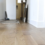 "4"" Wire Brushed Solid Oak Hardwood Floor"